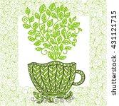 green tea | Shutterstock .eps vector #431121715