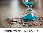 deadline and time is money... | Shutterstock . vector #431122015