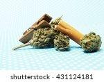 marijuana weed  | Shutterstock . vector #431124181