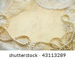 Vintage Background With Pearls...