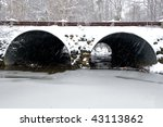 Snow Covered Storm Water...