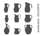 set of jugs. pitcher... | Shutterstock .eps vector #431142919