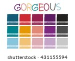 gorgeous color tone with code... | Shutterstock .eps vector #431155594