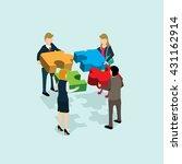business team solution in... | Shutterstock .eps vector #431162914