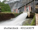 water flow in neyyar dam | Shutterstock . vector #431163079