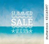 summer sale label   Shutterstock .eps vector #431165497