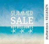 summer sale label   Shutterstock .eps vector #431165674