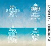 summer sale labels | Shutterstock .eps vector #431165707