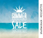 summer sale label | Shutterstock .eps vector #431165731