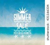 summer sale label   Shutterstock .eps vector #431166334