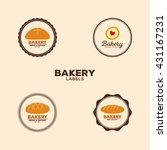 delicious bakery labels | Shutterstock .eps vector #431167231