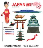 japan element and travel vector ... | Shutterstock .eps vector #431168329
