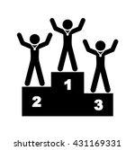 1st place podium  tribune... | Shutterstock .eps vector #431169331