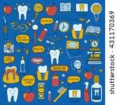 dentistry vector doodle set of... | Shutterstock .eps vector #431170369