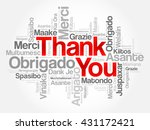 thank you word cloud concept... | Shutterstock .eps vector #431172421