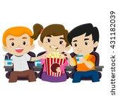 vector illustration of kids... | Shutterstock .eps vector #431182039