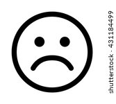 sad smiley face emoticon line... | Shutterstock .eps vector #431184499