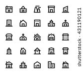 city elements vector icons 3 | Shutterstock .eps vector #431190121