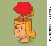 vector cartoon image of the... | Shutterstock .eps vector #431190589
