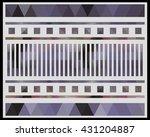 low polygon triangle pattern...   Shutterstock . vector #431204887