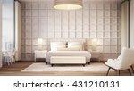 simple and luxury bedroom hotel ... | Shutterstock . vector #431210131