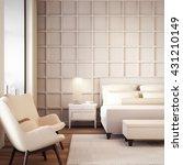 simple and luxury bedroom hotel ... | Shutterstock . vector #431210149