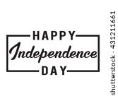happy independence day card.... | Shutterstock .eps vector #431211661