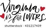 virginia is for lovers | Shutterstock .eps vector #431217439