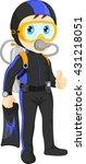 scuba diver boy thumb up   Shutterstock . vector #431218051