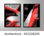 brochure template  flyer design ... | Shutterstock .eps vector #431228245