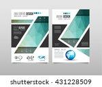 brochure template  flyer design ... | Shutterstock .eps vector #431228509