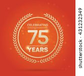 75 years anniversary badge on... | Shutterstock .eps vector #431232349