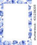 blue watercolor hydrangea... | Shutterstock . vector #431238205