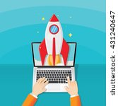 start up launch business program | Shutterstock .eps vector #431240647