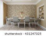 3d rendering of modern beige... | Shutterstock . vector #431247325