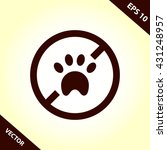 no pets icon. pets forbidden...   Shutterstock .eps vector #431248957