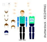 character constructor man | Shutterstock .eps vector #431249461