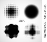 simple abstract halftone... | Shutterstock .eps vector #431251831
