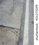 grunge crack concrete road... | Shutterstock . vector #431273299