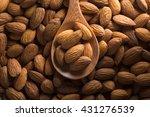 Almonds. Almonds On Dark Tone....