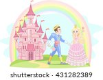 beautiful prince and princess... | Shutterstock .eps vector #431282389