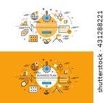 set of modern vector... | Shutterstock .eps vector #431288221