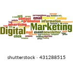 digital marketing  word cloud... | Shutterstock . vector #431288515