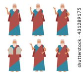 vector image of the set of moses | Shutterstock .eps vector #431289175