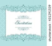 vintage invitation template... | Shutterstock . vector #431291539