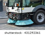 Street Cleaner Vehicle In The...