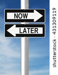 modified one way signs... | Shutterstock . vector #431309119