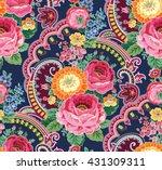 pattern rose ornament flower