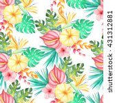 seamless pattern with... | Shutterstock . vector #431312881