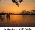 Sunset Over River Ganges With...
